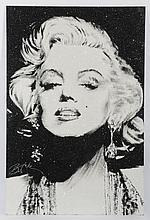 Contemporary mixed media portrait of Monroe