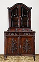 English Regency curio cabinet, maker marked