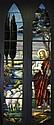 19th c. American stained glass window