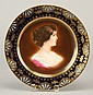 19th c. portrait plate, marked Royal Vienna