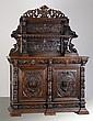 19th c. Belgian carved oak huntboard