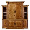 Oversized waxed pine wall unit