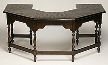 19th c. English Jacobean-style library table