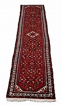 Semi-antique hand knotted Hamadan runner