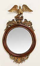 American Federal style carved mahogany mirror