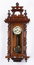 Early 20th c. German walnut regulator clock