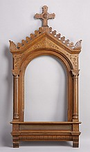 Carved oak frame