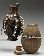 (2) African hand crafted water vessels