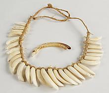 Dog's tooth necklace, Papua New Guinea
