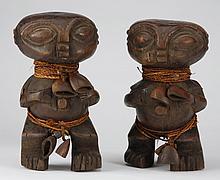 (2) Tikar ancestral figures, Cameroon