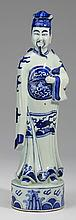 Chinese porcelain court figure, 17