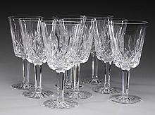 (8) Waterford crystal Lismore water goblets