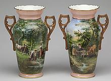 (2) 19th c. Continental vases, 16