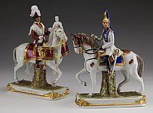 (2) Early 20th c. German porcelain figurines