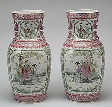 (2) Chinese porcelain floor vases, 24