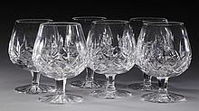 (6) Waterford crystal Lismore brandy snifters