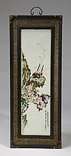 Chinese porcelain plaque, inscribed, 37