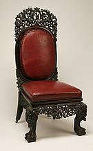 19th c. Burmese carved chair