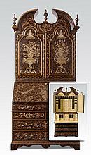 Parcel gilt and paint decorated secretaire