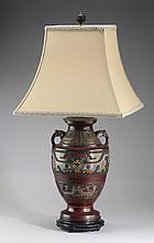 Japanese cloisonné table lamp, early 20th c.