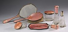 7-Piece Austrian sterling and enamel set