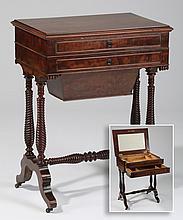 19th c. French walnut dressing table