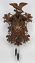 Black Forest cuckoo clock w/carved birds 38