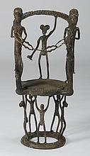 African chair of hand forged metal