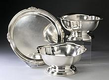 (3) Reed & Barton silver plate serving pieces