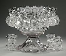 Heisey punch set with 25 cups