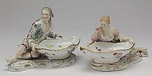 19th c.Continental figural sweet meat dishes