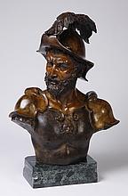 Italian bronze bust on marble base