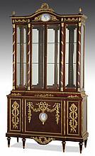 19th c. French dore' bronze mounted vitrine