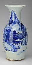 Chinese blue and white porcelain vase, 18