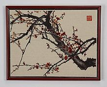 20th c. Japanese needlepoint tapestry