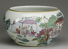Late 19th c. Chinese porcelain fishbowl