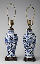 (2) Chinese porcelain table lamps
