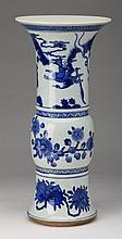 Chinese porcelain gu vase, marked, 19