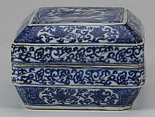 Chinese porcelain lidded box, Xuande mark