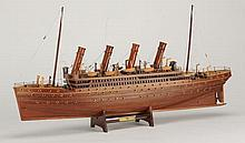 Carved mahogany model of the Titanic, 33