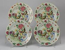 (4) Chinese famille rose plates, 9