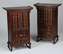 (2) Chinese apothecary cabinets, 36