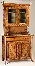 19th c. English bamboo cupboard