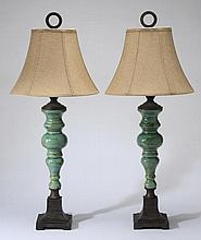 (2) Contemporary ceramic table lamps