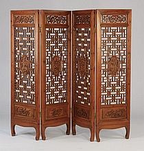 Chinese 4-panel screen or room divider