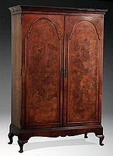 Early 20th c. English double door wardrobe