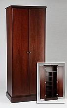 Contemporary mahogany storage cabinet