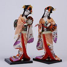 (2) Similar Japanese geisha dolls