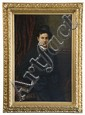 19th c. oil on canvas, signed Holm