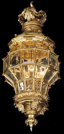 French dore' bronze lantern